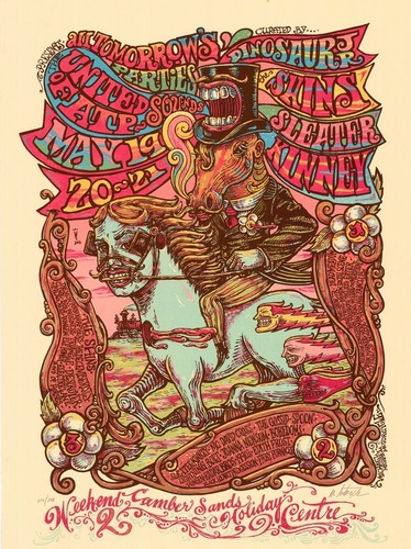ATP 'United Sounds of ATP' curated by Dinosaur Jr/Sleater Kinney/The Shins poster (MM)