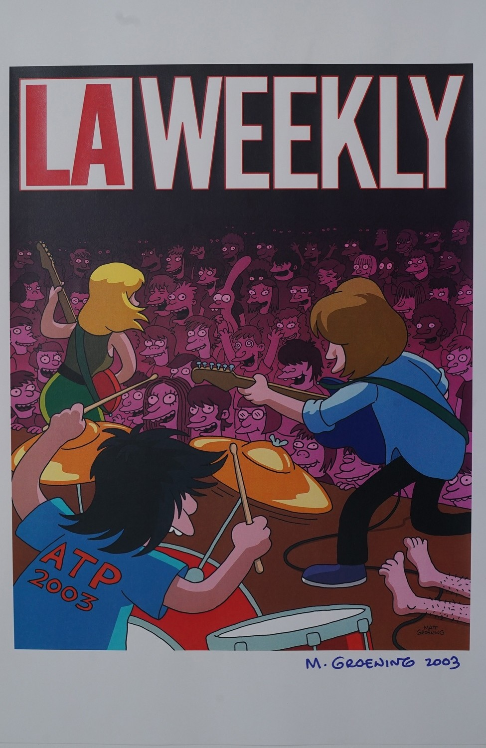 LA Weekly feat. Sonic Youth- Signed by Matt Groening