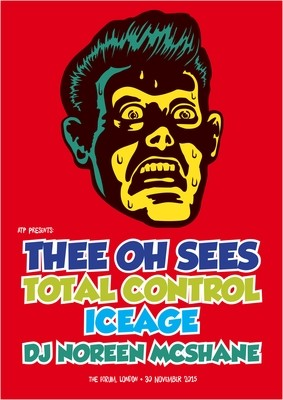 THEE OH SEES - glossy A2 concert art poster