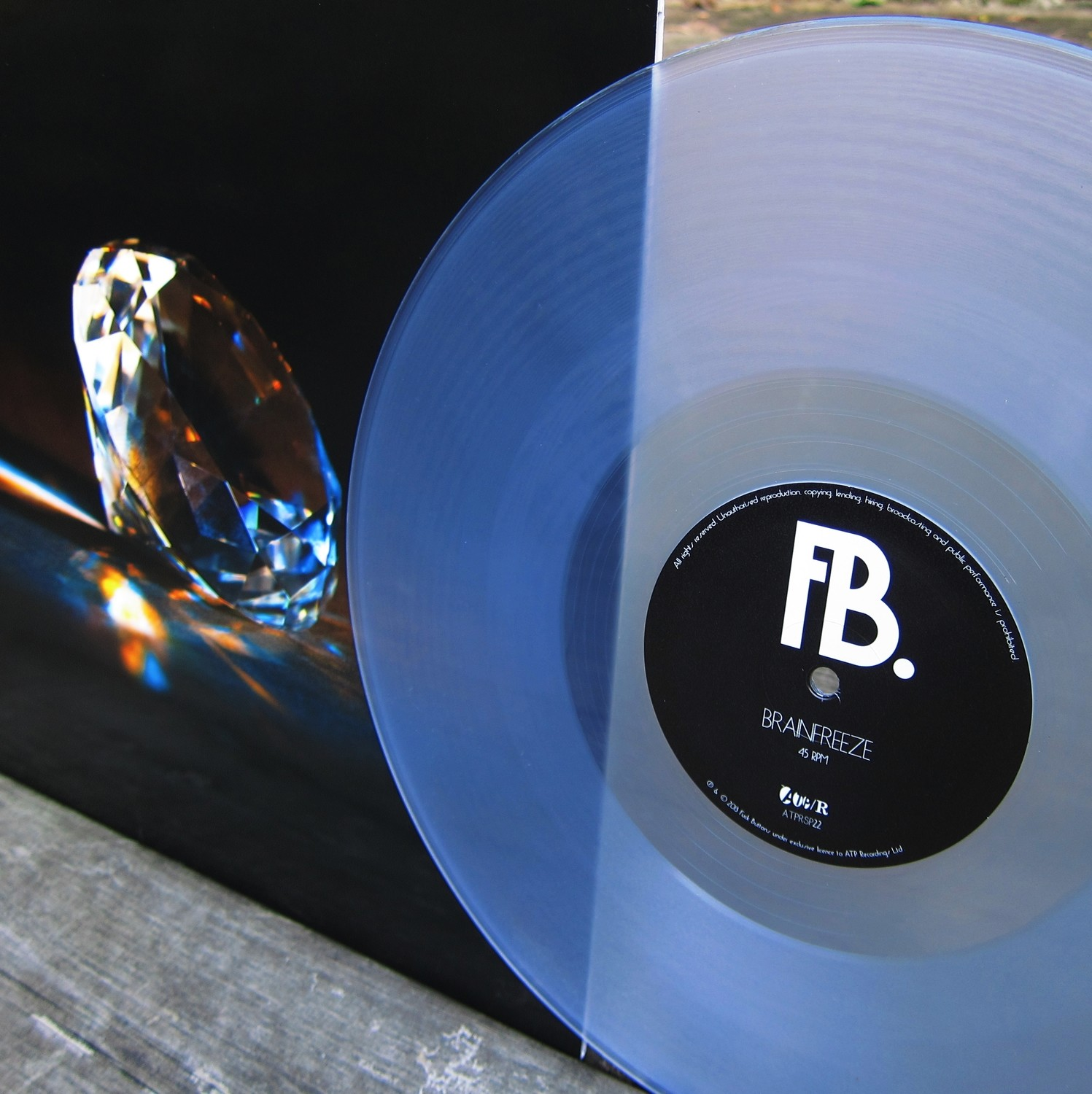 "FUCK BUTTONS 'Brainfreeze' 12"" Clear Vinyl (with download code)"