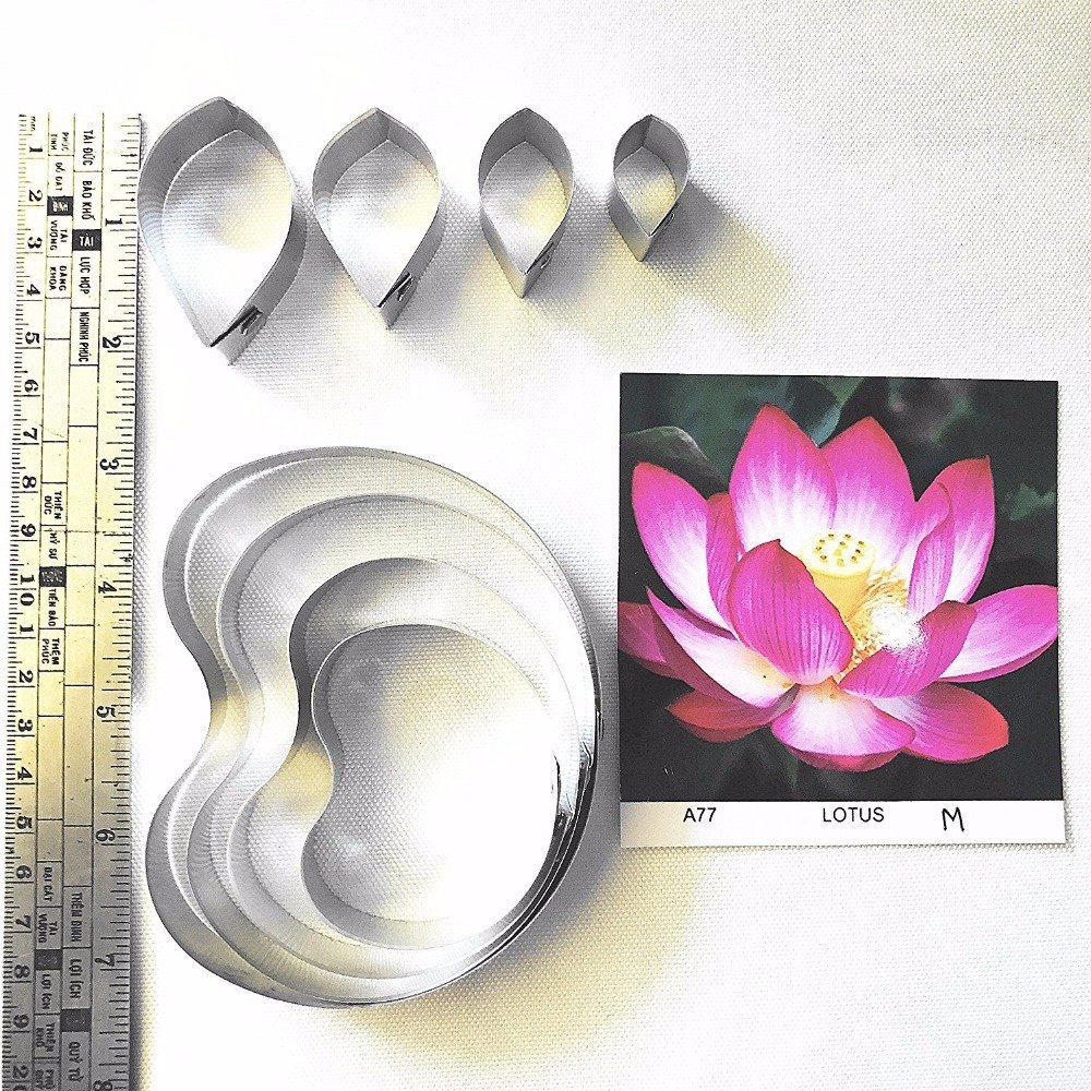 Lotus Full Set Cutters, Sugarcraft cutters,sugar flower mold, fondant cutter, Clay tools,Clay flower cutters,sugar flower A77
