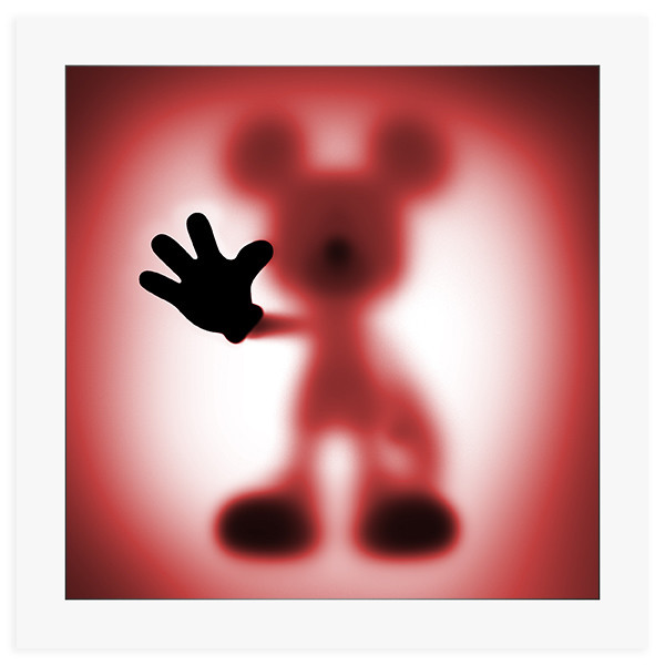 Gone Mickey Red- 60 x 60 cm fine art giclee print