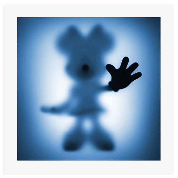 Gone Minnie Blue- 60 x 60 cm fine art giclee print