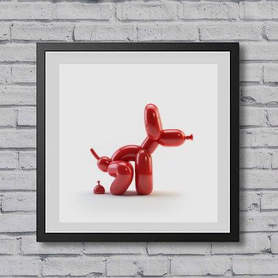 POPEK RED Giclée Print