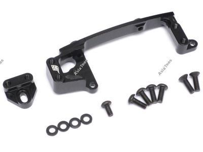 Boom Racing Aluminum Servo Mounts Black for Axial SCX10 II