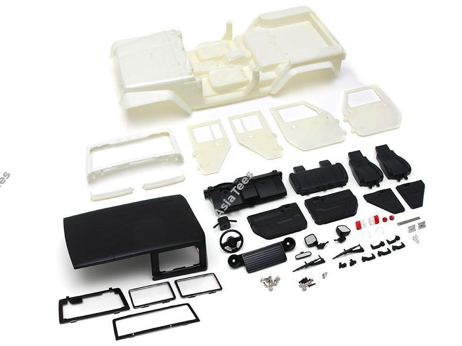 Team Raffee Co. 5 Door Rubicon Hard Body for 1/10 Crawler 313mm Kit Version White