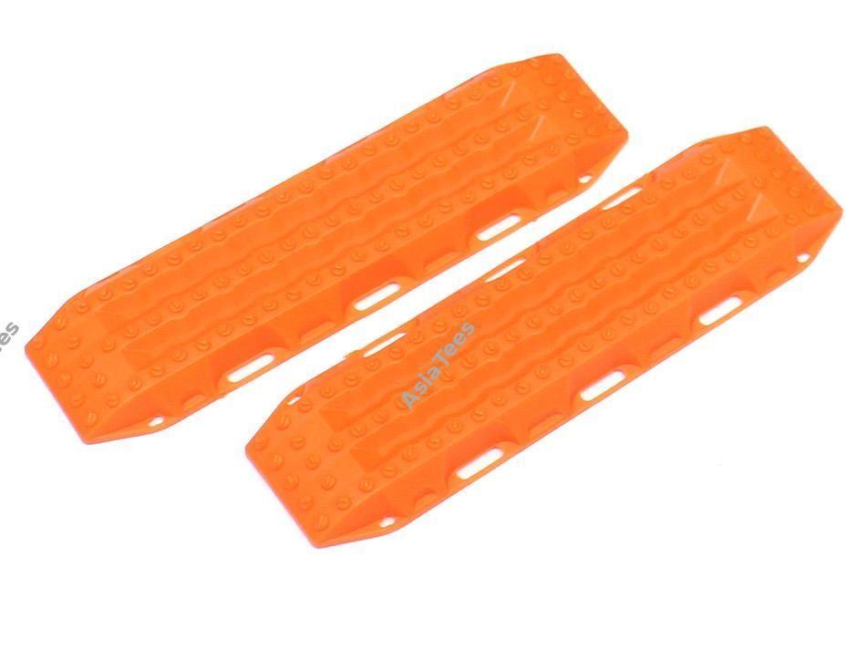 Team Raffee Co. Scale Accessories - 1/10 Recovery Ramps & Sand Board (1) Orange