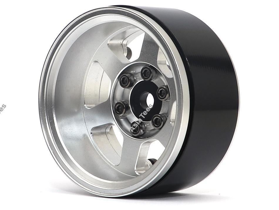 Boom Racing TE37XD KRAIT™ 1.9 Deep Dish Aluminum Beadlock Wheels w/ XT601 Hubs (4) Silver