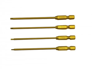 Hobby Details Titanium Tip Power Tool Hex Driver 1.5/2.0/2.5/3.0mm 4pcs/set