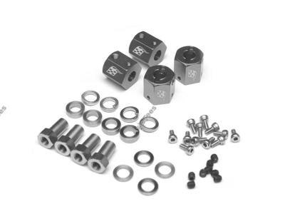 Boom Racing KRAIT™ Aluminum 12mm Wheel Hex Widener (4) (Offset: 8mm) - Gun Metal