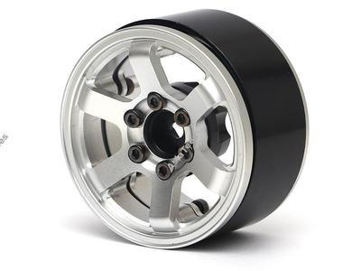 Boom Racing TE37LG KRAIT™ 1.9 Aluminum Beadlock Wheels w/ XT606 Hubs (4) Silver