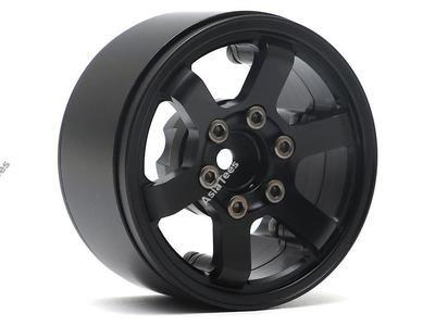 Boom Racing TE37LG KRAIT™ 1.9 Aluminum Beadlock Wheels w/ XT606 Hubs (4) Black
