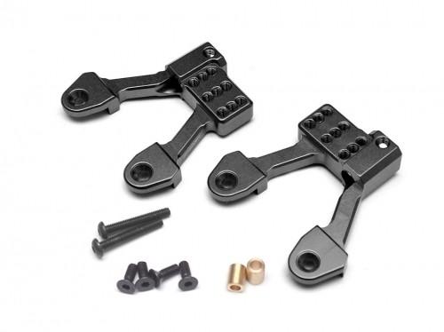 Boom Racing Aluminum Rear Shock Hoops for SCX10 II - 1 Pair Black for Axial SCX10 II