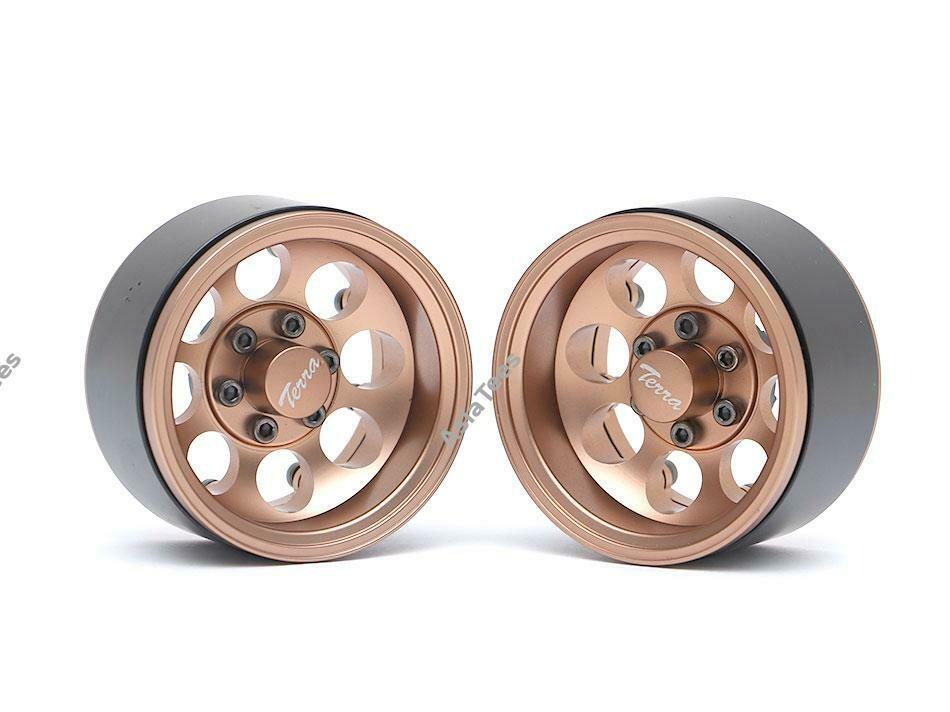 Boom Racing Terra 1.9 Classic 8-Hole Aluminum Deep Dish Beadlock Wheels w/ XT601 Hubs (2) Bronze