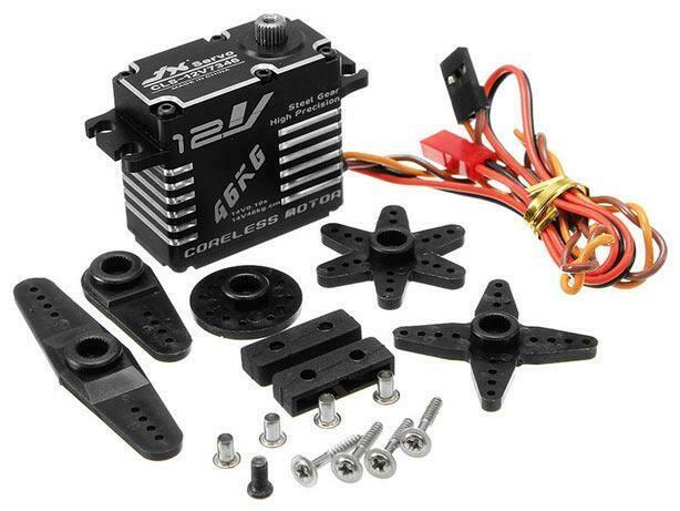 JX Servo Aluminum Case HV Coreless Digital Steel Gear Servo 46 kg / 0.10 Sec @ 14V