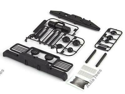 Killerbody Bumper W/ Accent LED Light & Winch For SCX10/II & TRX4 (Front & Rear)