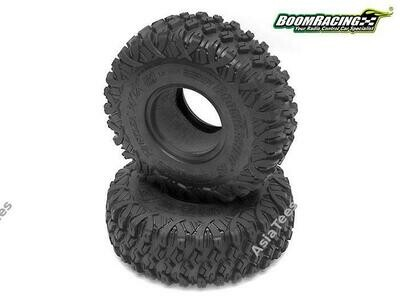 Boom Racing HUSTLER M/T Xtreme 1.9 MC2 Narrow Rock Crawling Tires 4.75x1.50 SNAIL SLIME™ Compound W/ 2-Stage Foams (Super Soft) *PREORDER*