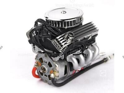 GRC 1/10 Vintage V8 Scale Engine w/ Radiator Motor Cooling Fan Air Filter