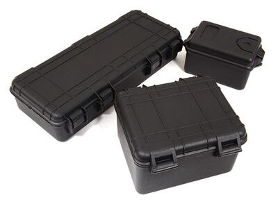 Integy Realistic Luggage Carrying Hard Case 3-Piece Set for 1/10 RC Scale Crawler C29067BLACK
