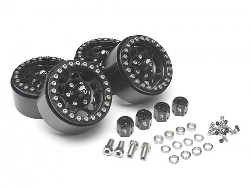 Boom Racing Sandstorm KRAIT™ 1.9 Aluminum Beadlock Wheels with 8mm Wideners (4) Black