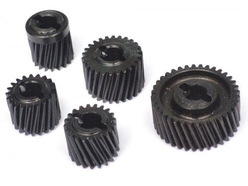 Boom Racing Heavy Duty Steel Helical Pineapple Transmission Gear Set (5pcs) for Axial SCX10 II
