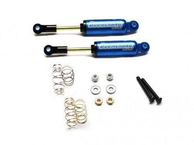 Boom Racing Boomerang™ Type I Aluminum Internal Shocks Set 90MM (2) Blue