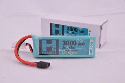Helios R/C 3S 3000 mAh 40c Lipo (XT60)