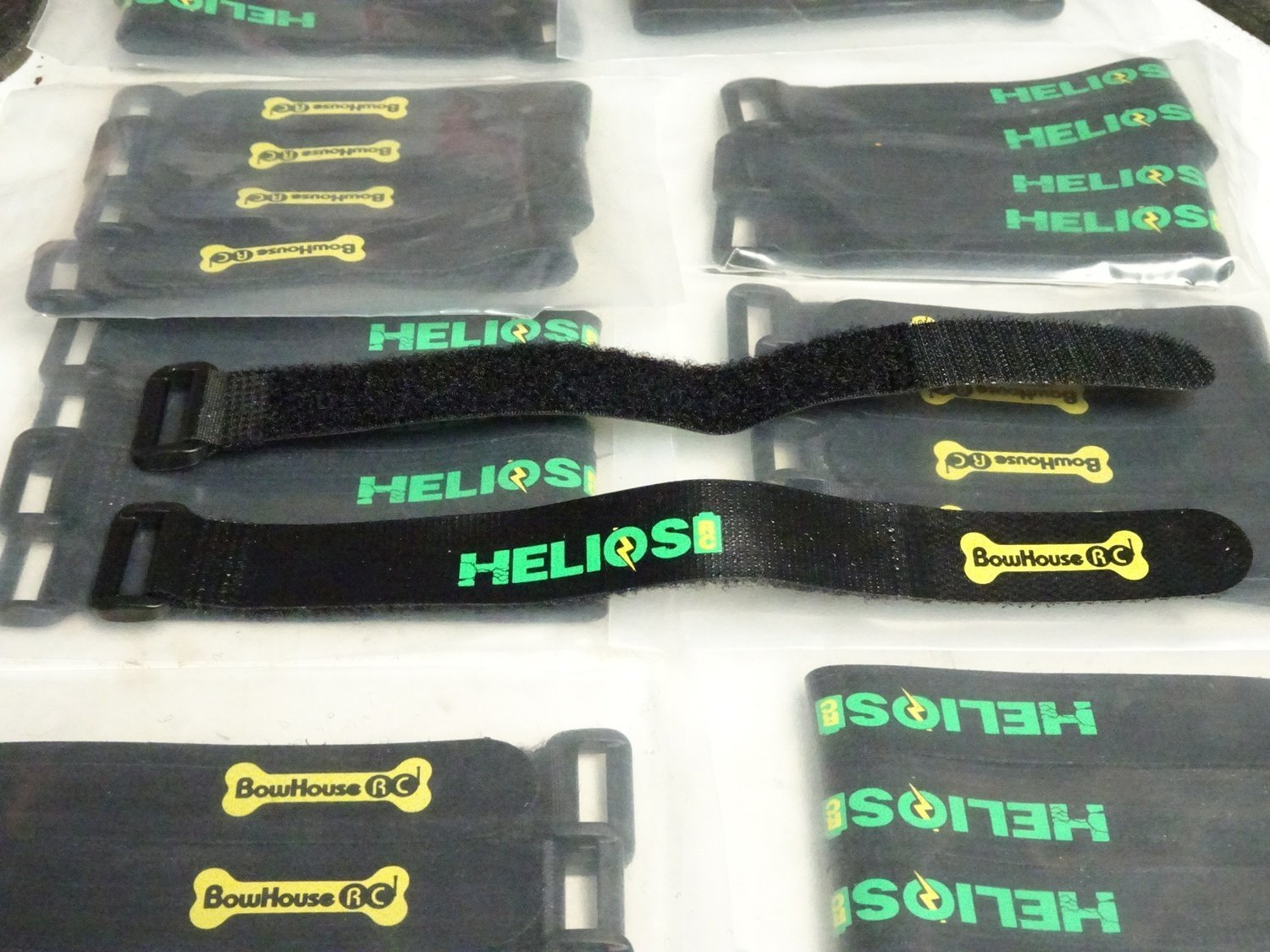Helios R/C 200mm Non-Slip Battery Straps (set of 2)