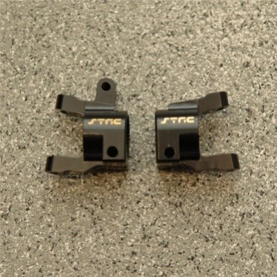 CNC Machined Brass Front C-Hub (1 pair) for Axial SCX10 II (Black)