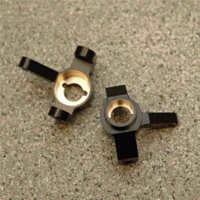 CNC Machined Brass Front Steering Knuckle (1 pair) for Axial SCX10 II (Black)