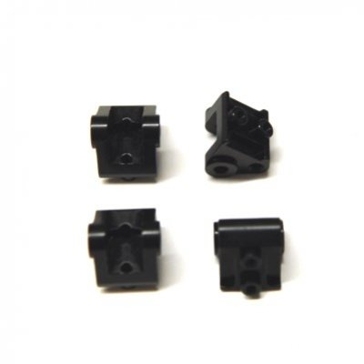 STRC CNC Machined Aluminum Lower Shock/Suspension Link Mount (4 pcs) Black