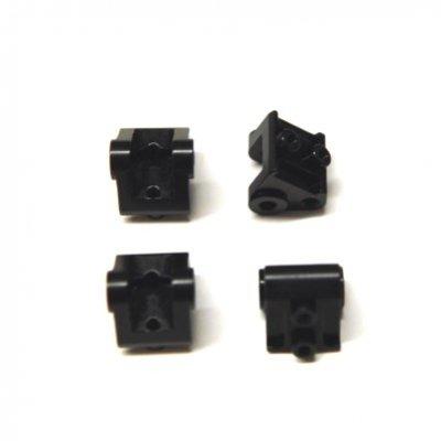 STRC CNC Machined Aluminum Lower Shock/Suspension Link Mount (4 pcs) Black