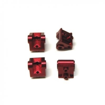 CNC Machined Aluminum Lower Shock/Suspension Link Mount (4 pcs) Red