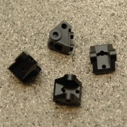 STRC CNC Machined Brass Lower Shock/Suspension Link Mount (4 pcs) Black (SCX10.2)