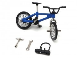 Team Raffee Co. Scale Accessories - BMX Bike w/ Lock & Wrench Style B 1Pc Blue