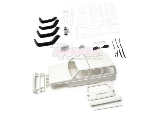 Team Raffee Co. Cherokee XJ Hard Plastic Body Kit Set 313mm w/ Rubber Fenders