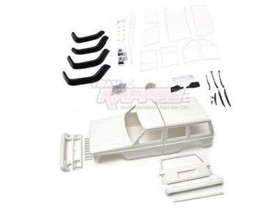 Team Raffee Co. Cherokee XJ Hard Plastic Body Kit Set 313mm w/ Rubber Fenders