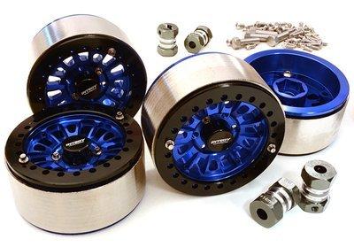 Integy 1.9 Machined High Mass Wheel (4) w/14mm Spacers (Blue)