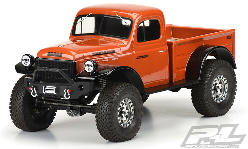 """Proline 1946 Dodge Power Wagon Clear Body for 12.3"""" (313mm) Wheelbase Scale Crawlers"""
