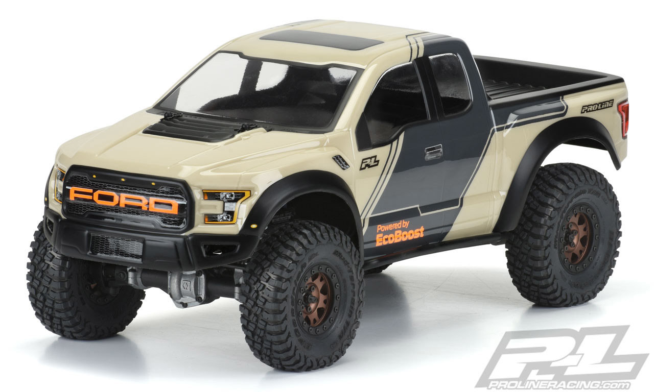 "Proline 2017 Ford F-150 Raptor Clear Body for 12.3"" (313mm) Wheelbase Scale Crawlers"