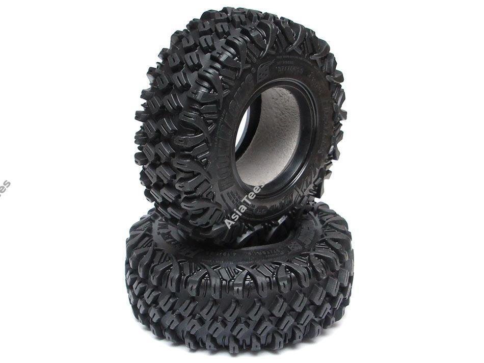 Boom Racing HUSTLER M/T Xtreme 1.9 MC1 Rock Crawling Tires 4.19x1.46 SNAIL SLIME™ Compound W/ 2-Stage Foams (Ultra Soft) 2pcs