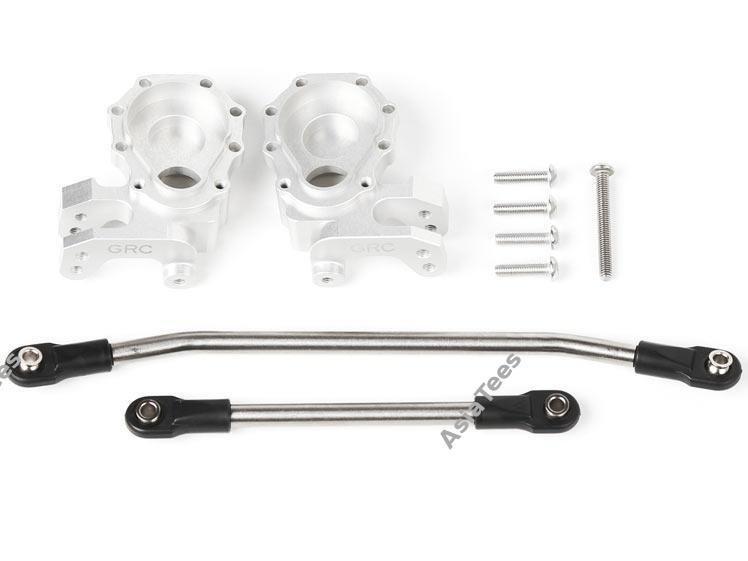 GRC Aluminum Knuckles w/ Titanium Steering Links Set for TRX4