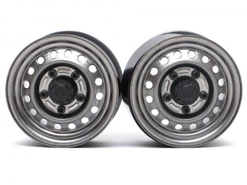 "Boom Racing 1.55"" 16-Hole Classic Steelie Reversible Beadlock Wheels (Rear) w/ XT500 Hubs (2)"