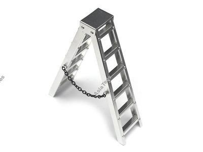 Team Raffee Co. Scale Accessories 4 Inch Aluminum Ladder 1 pc