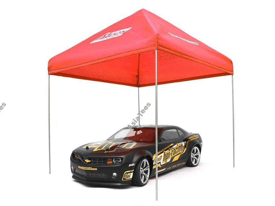 ATees ATees 1/10 Scale EZ Up Compact Pit Tent Canopy - 1 Set Red