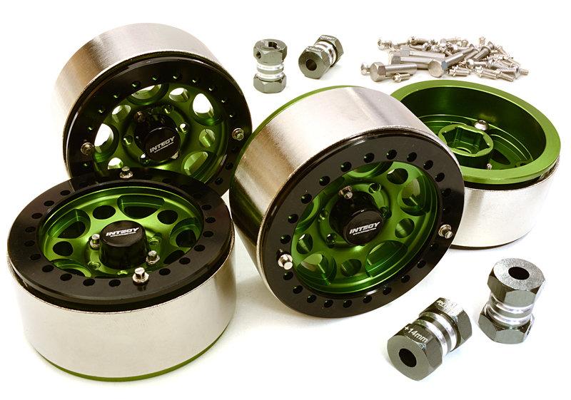 Integy 1.9 Size Machined High Mass Wheel (4) w/14mm Offset Hubs