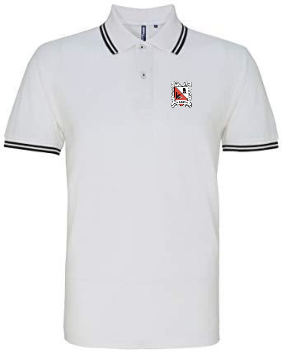 Polo Shirt - White with Black Trim (Ordered on Request)