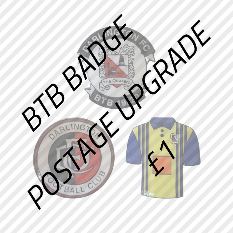 BTB badge postage