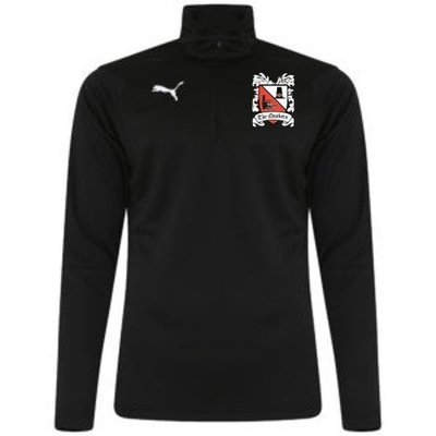 Puma Liga Black Quarter Zip Top (Ordered on Request) 18/19