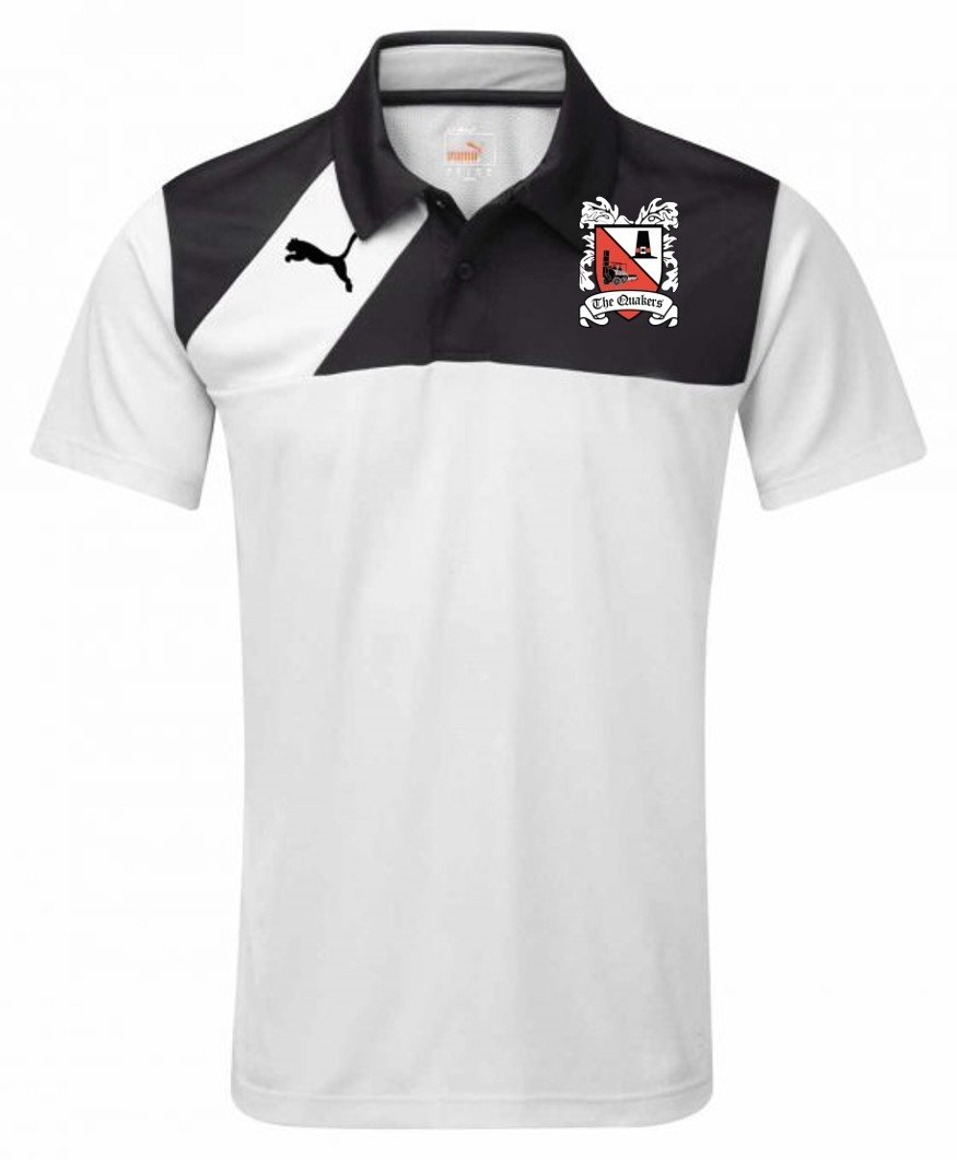 Puma Esquadra White/Black Leisure Polo (Ordered on Request) 18/19